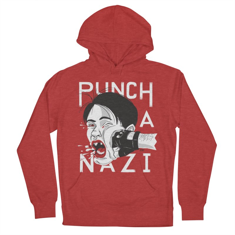 Punch A Nazi Men's French Terry Pullover Hoody by Nick Lacke's Shirt Shop