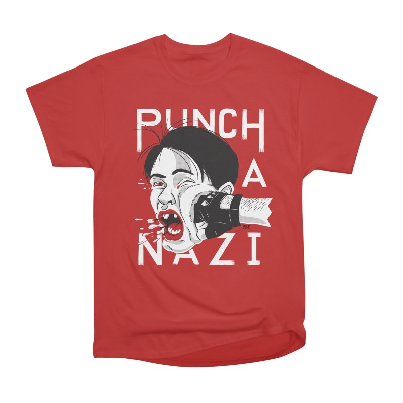 Punch A Nazi Women's Heavyweight Unisex T-Shirt by Nick Lacke's Shirt Shop