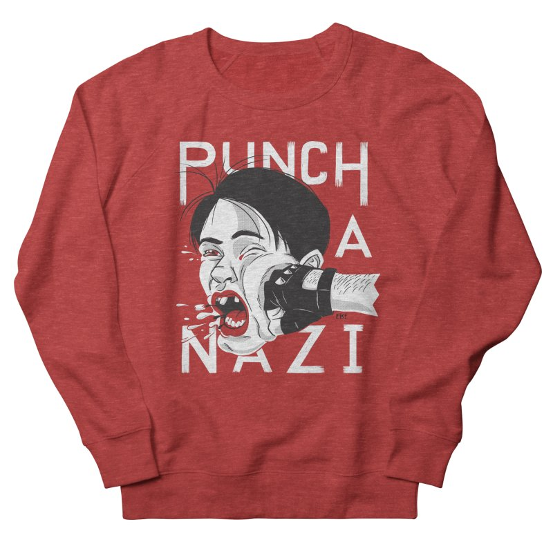 Punch A Nazi Men's French Terry Sweatshirt by Nick Lacke's Shirt Shop