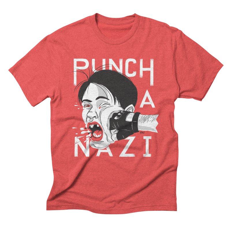 Punch A Nazi Men's Triblend T-Shirt by Nick Lacke's Shirt Shop
