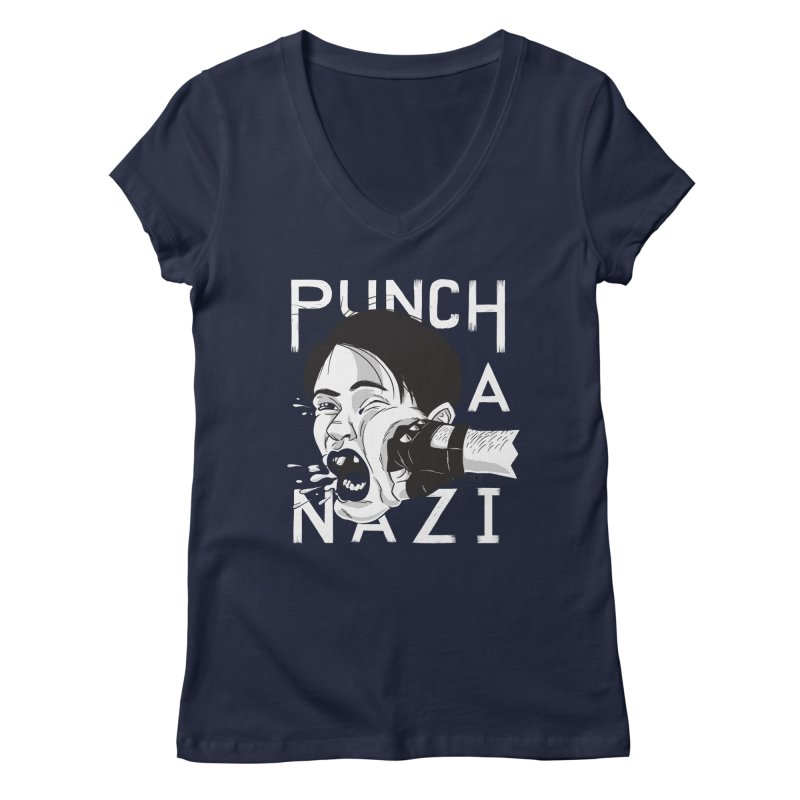 Punch A Nazi Women's  by Nick Lacke's Shirt Shop