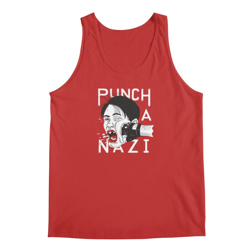 Punch A Nazi Men's Tank by Nick Lacke's Shirt Shop