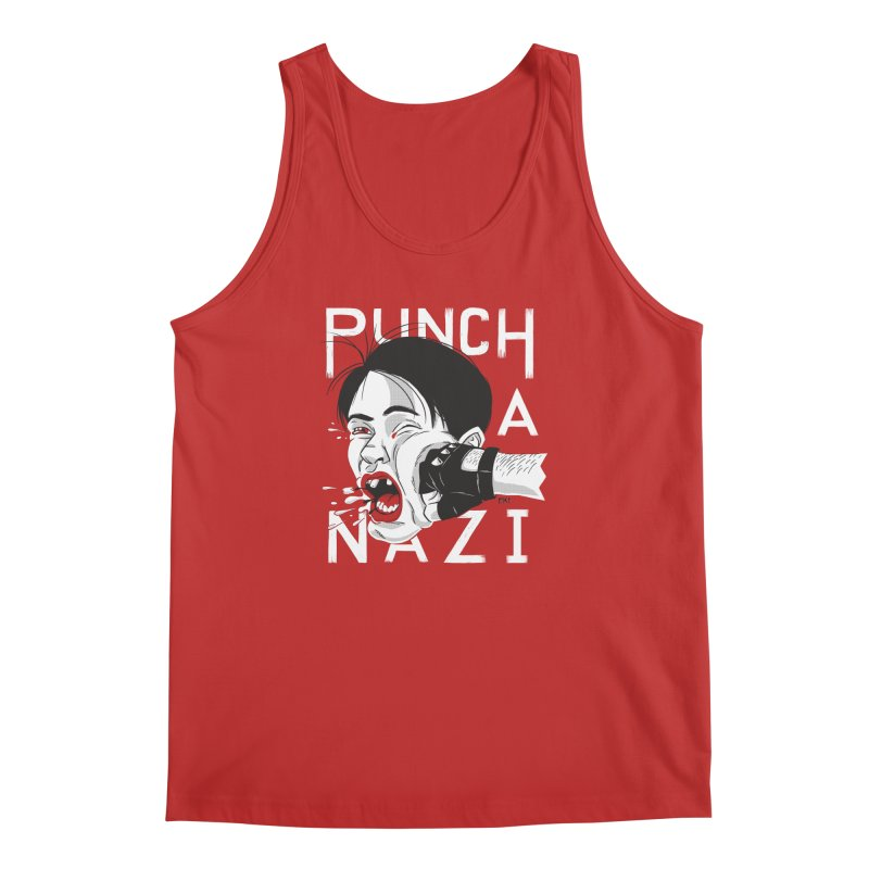 Punch A Nazi Men's Regular Tank by Nick Lacke's Shirt Shop