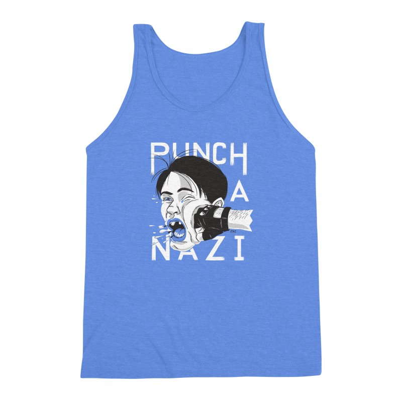 Punch A Nazi Men's Triblend Tank by Nick Lacke's Shirt Shop