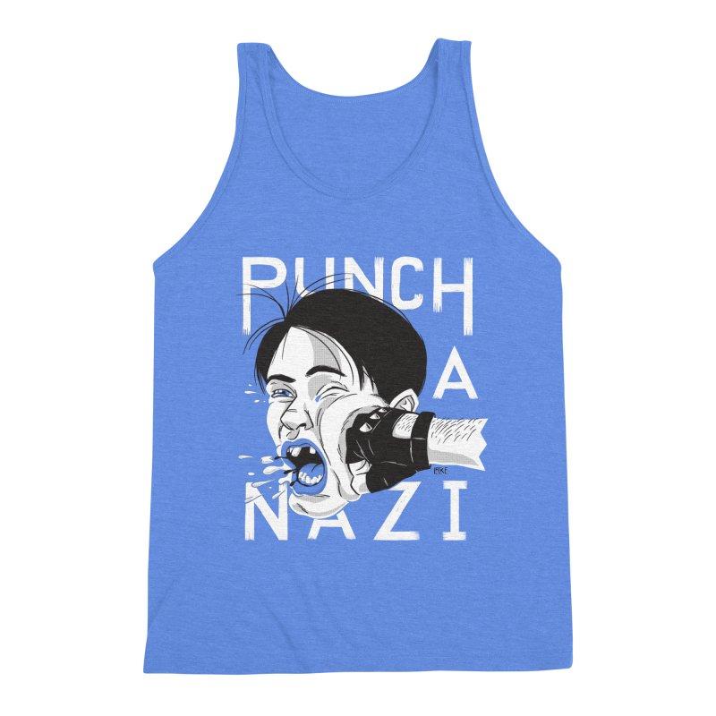 Punch A Nazi Men's Triblend Tank by Nick Lacke's Shirt Shop