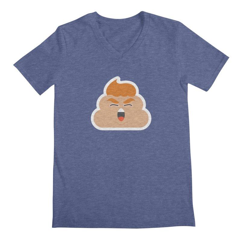 Donald Dump Men's Regular V-Neck by Nick Lacke's Shirt Shop