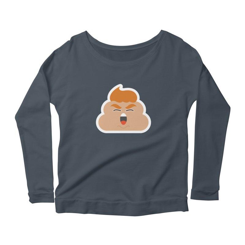 Donald Dump Women's Scoop Neck Longsleeve T-Shirt by Nick Lacke's Shirt Shop