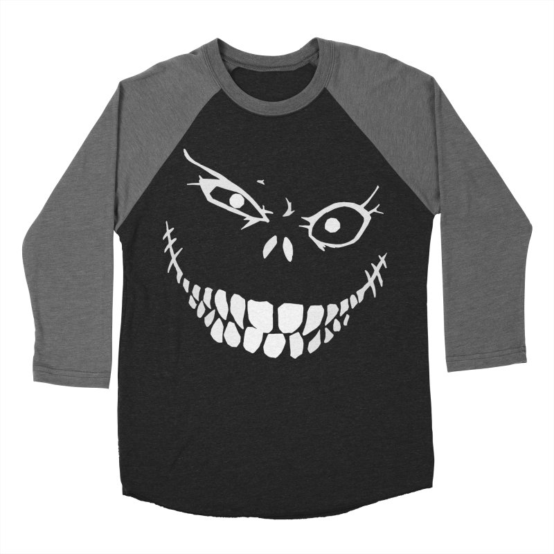 Crazy Monster Grin Men's Baseball Triblend T-Shirt by Nicklas Gustafsson