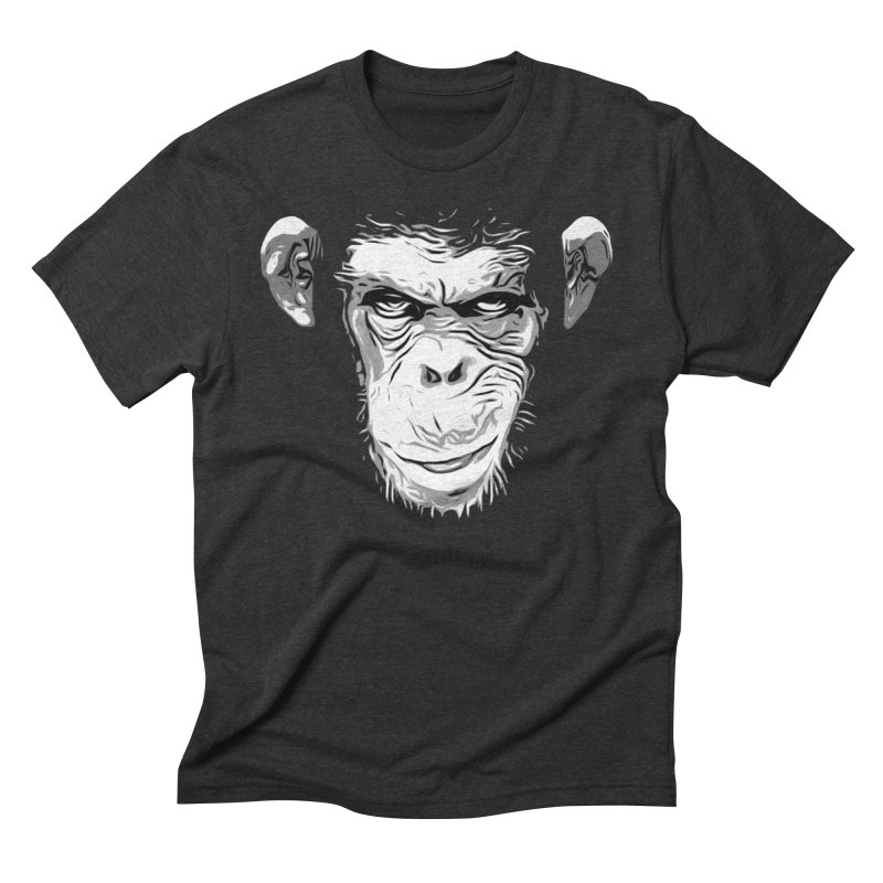 Evil Monkey Men's Triblend T-Shirt by Nicklas Gustafsson