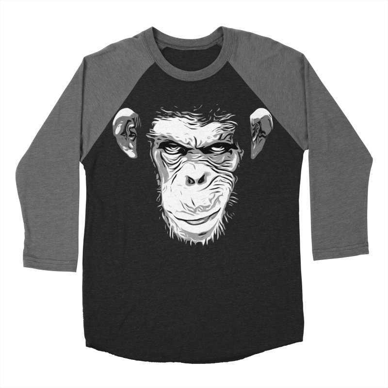 Evil Monkey Men's Baseball Triblend T-Shirt by Nicklas Gustafsson