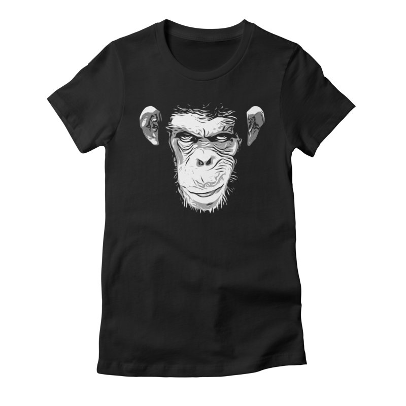 Evil Monkey Women's Fitted T-Shirt by Nicklas Gustafsson