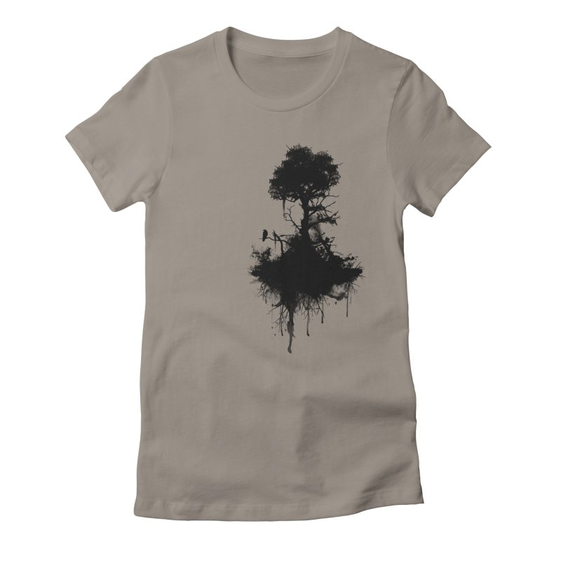 Last Tree Standing Women's Fitted T-Shirt by Nicklas Gustafsson