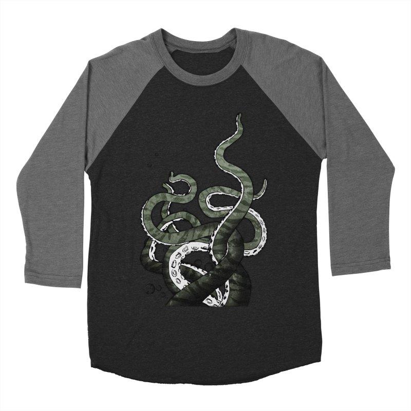 Octopus Tentacles Men's Baseball Triblend T-Shirt by Nicklas Gustafsson