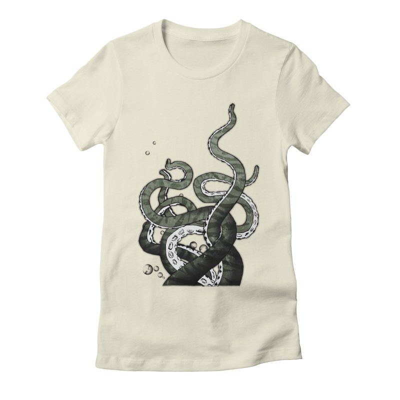 Octopus Tentacles Women's Fitted T-Shirt by Nicklas Gustafsson
