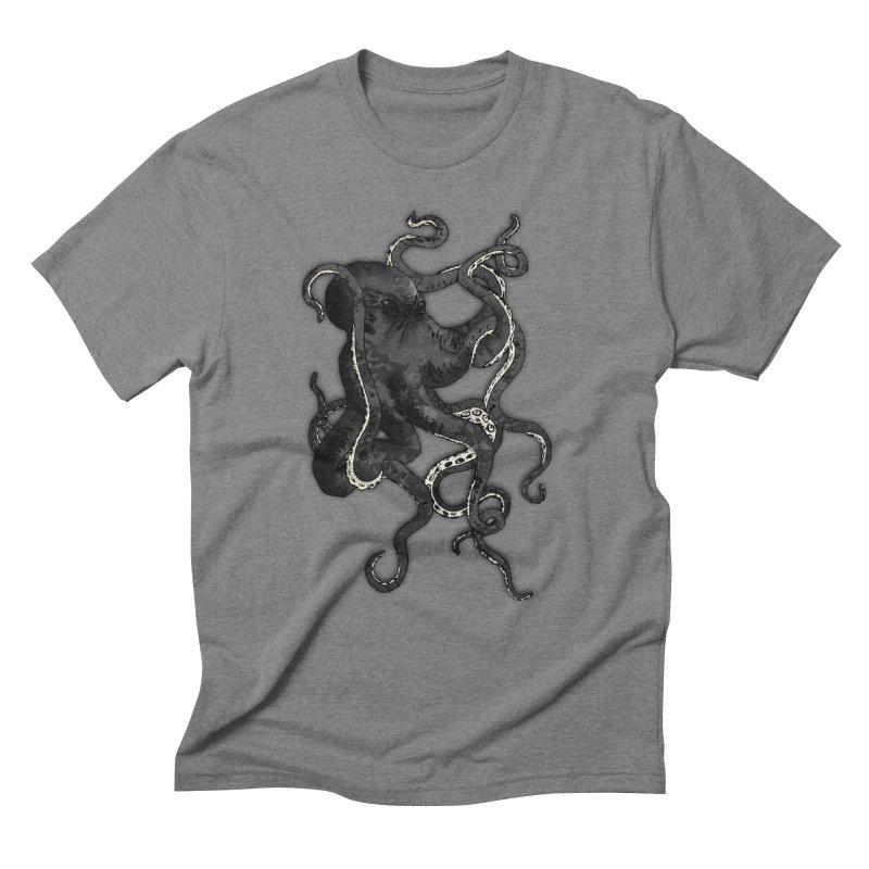 Octopus Men's Triblend T-Shirt by Nicklas Gustafsson