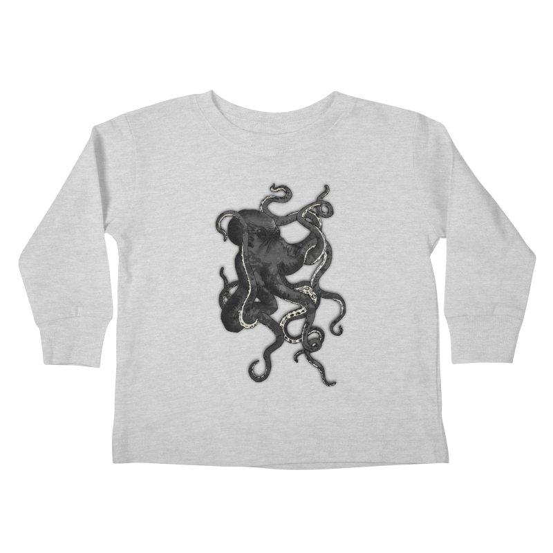 Octopus Kids Toddler Longsleeve T-Shirt by Nicklas Gustafsson