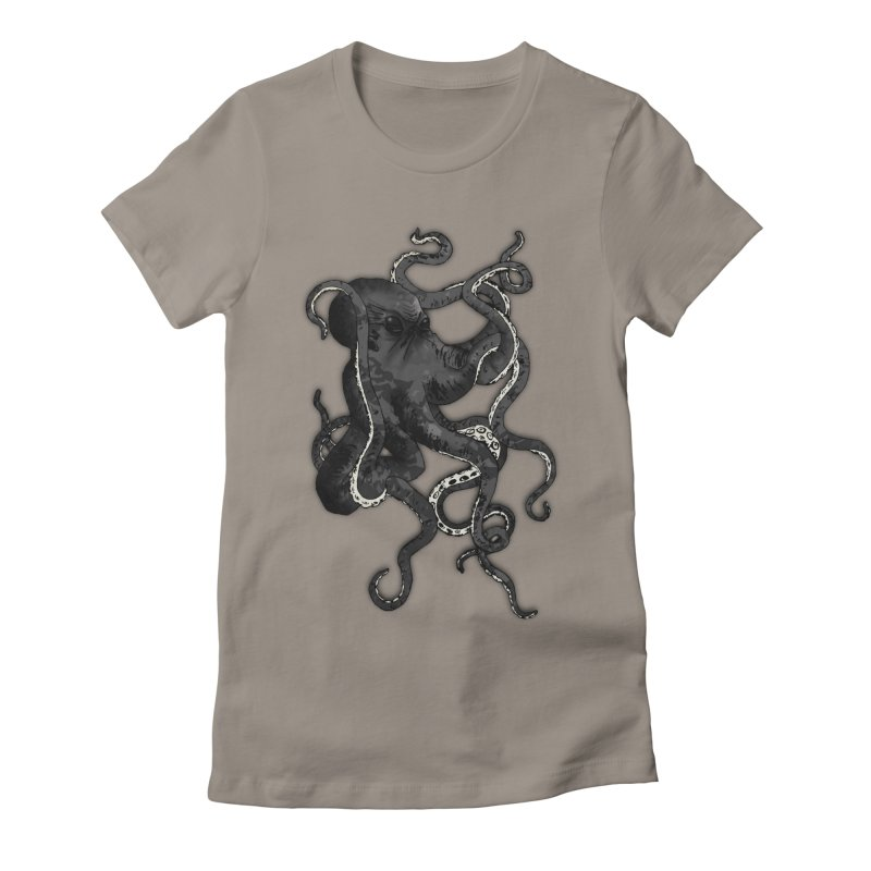 Octopus Women's Fitted T-Shirt by Nicklas Gustafsson