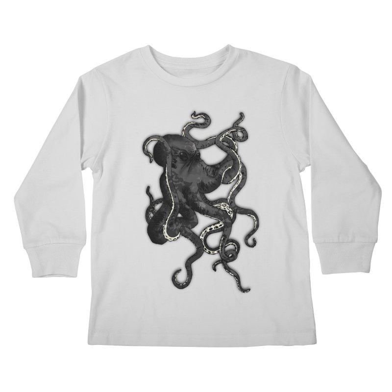 Octopus Kids Longsleeve T-Shirt by Nicklas Gustafsson
