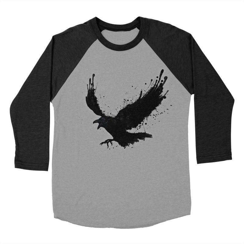 Raven Men's Baseball Triblend T-Shirt by Nicklas Gustafsson