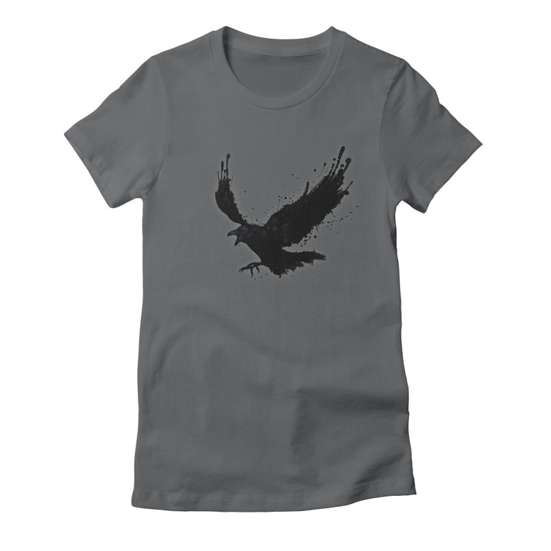 Raven Women's Fitted T-Shirt by Nicklas Gustafsson
