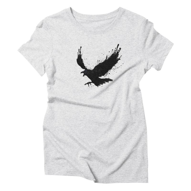 Raven Women's Triblend T-Shirt by Nicklas Gustafsson