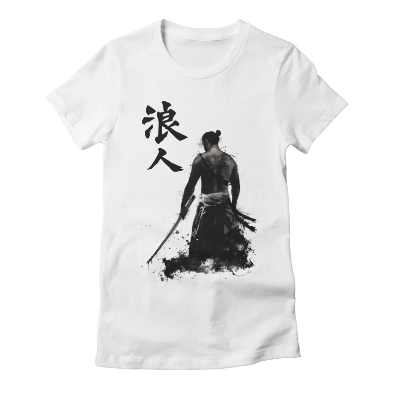 Ronin Women's Fitted T-Shirt by Nicklas Gustafsson