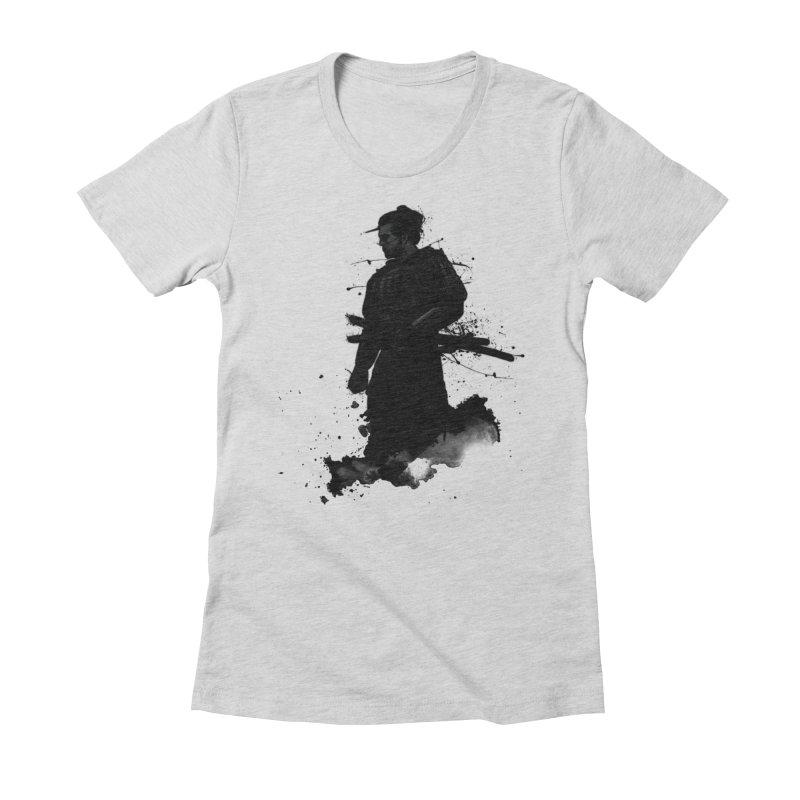 Samurai Women's Fitted T-Shirt by Nicklas Gustafsson