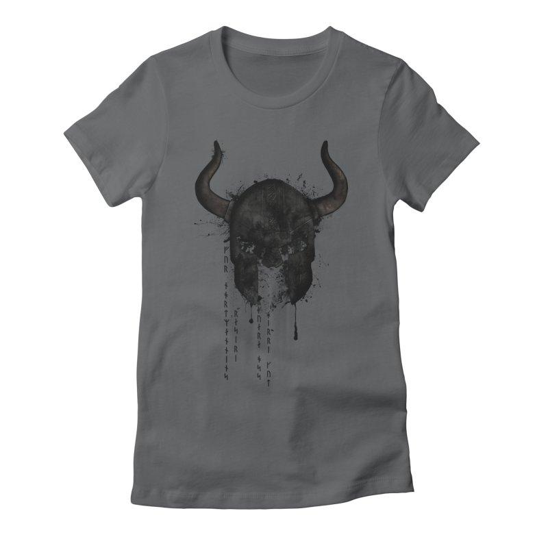 Northmen Women's Fitted T-Shirt by Nicklas Gustafsson