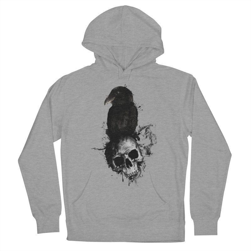 Raven and Skull Women's Pullover Hoody by Nicklas Gustafsson