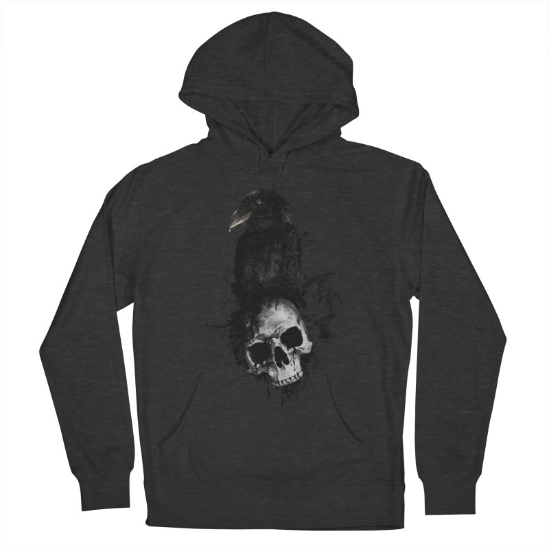 Raven and Skull Men's Pullover Hoody by Nicklas Gustafsson
