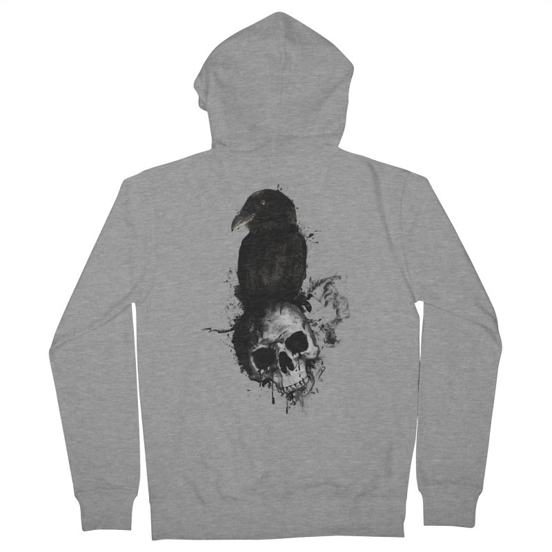 Raven and Skull Women's Zip-Up Hoody by Nicklas Gustafsson