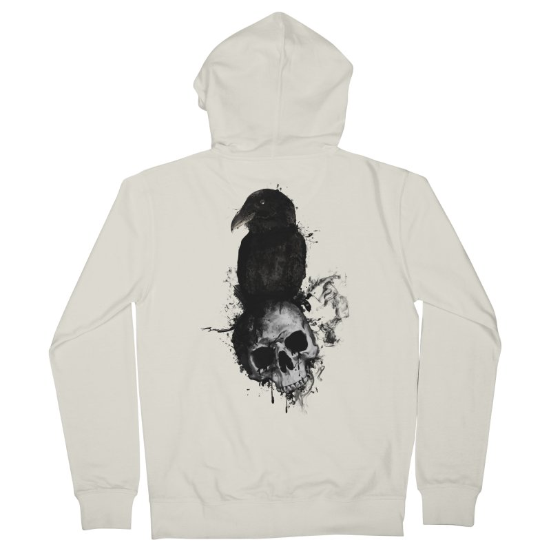 Raven and Skull Men's Zip-Up Hoody by Nicklas Gustafsson