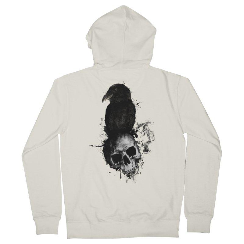 Raven and Skull Men's Zip-Up Hoody by Nicklas Gustafsson