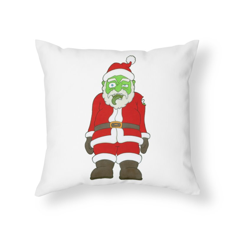 Zombie Santa Home Throw Pillow by Nick Lee Art's Artist Shop