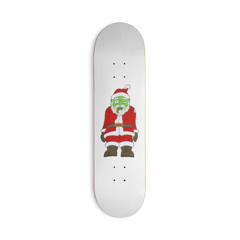 Zombie Santa Accessories Skateboard by Nick Lee Art's Artist Shop
