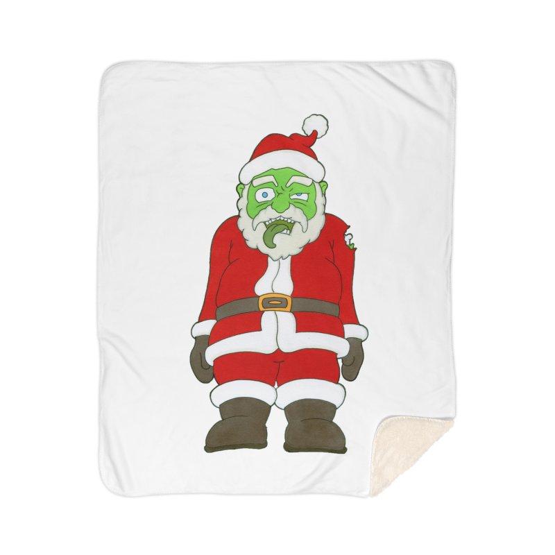 Zombie Santa Home Blanket by Nick Lee Art's Artist Shop