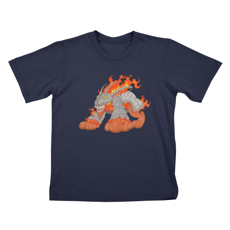 Fire Beast Kids T-Shirt by Nick Lee Art's Artist Shop