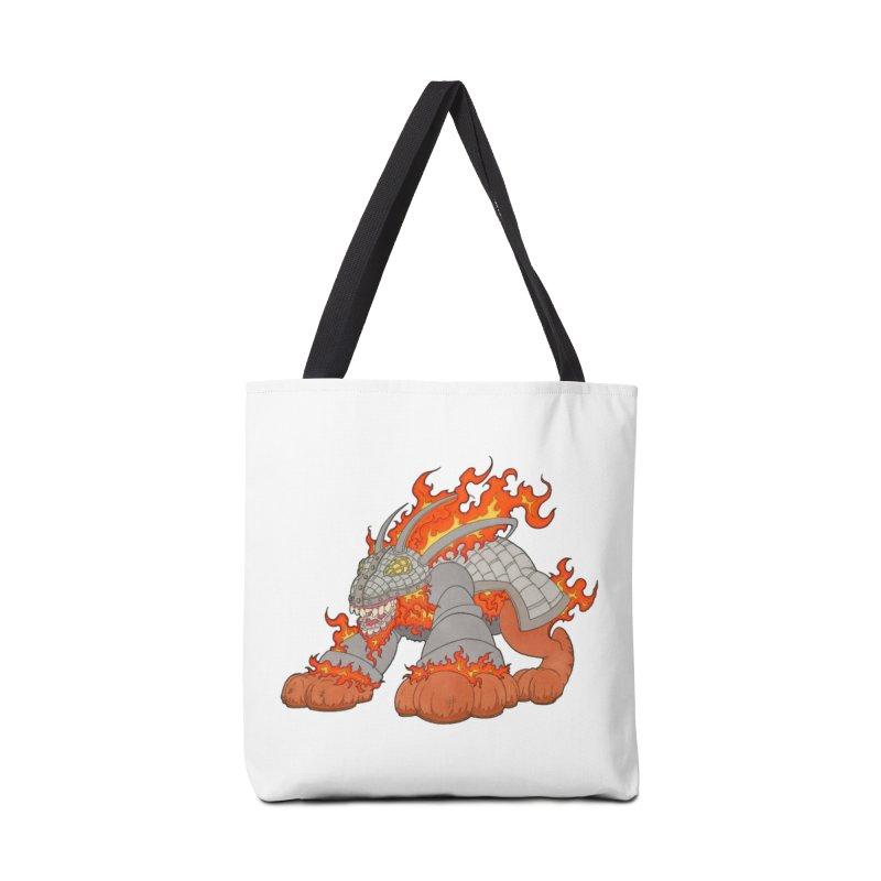 Fire Beast Accessories Bag by Nick Lee Art's Artist Shop
