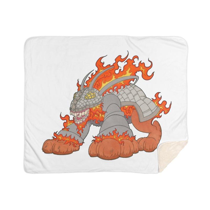 Fire Beast Home Blanket by Nick Lee Art's Artist Shop