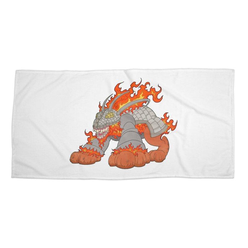 Fire Beast Accessories Beach Towel by Nick Lee Art's Artist Shop