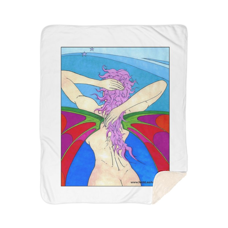 Fairy from Behind Home Blanket by Nick Lee Art's Artist Shop