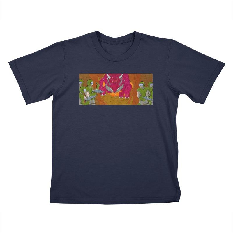 Dragon's Lair Kids T-Shirt by Nick Lee Art's Artist Shop