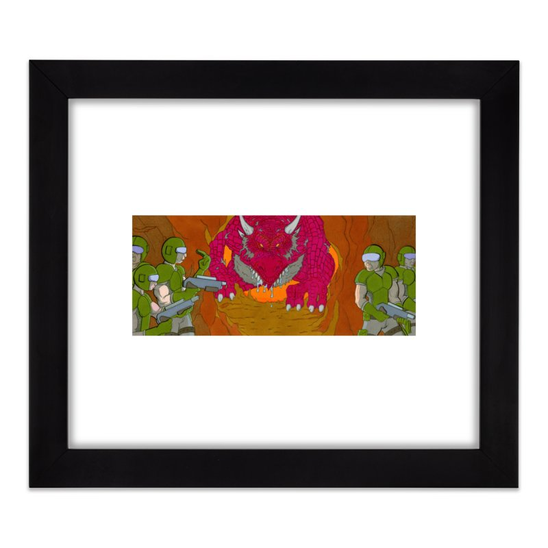Dragon's Lair Home Framed Fine Art Print by Nick Lee Art's Artist Shop