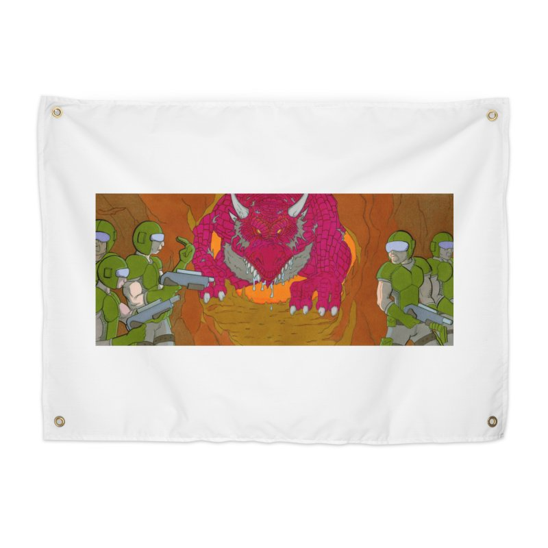 Dragon's Lair Home Tapestry by Nick Lee Art's Artist Shop