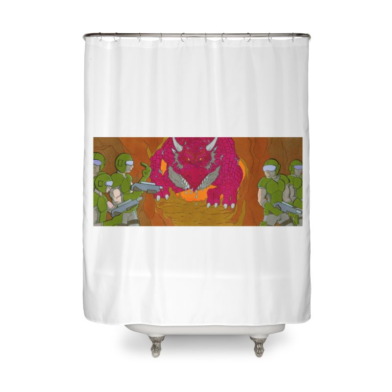 Dragon's Lair Home Shower Curtain by Nick Lee Art's Artist Shop