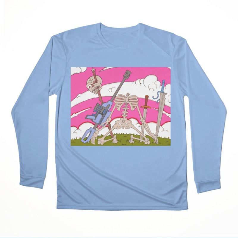 War Skeleton Women's Longsleeve T-Shirt by Nick Lee Art's Artist Shop