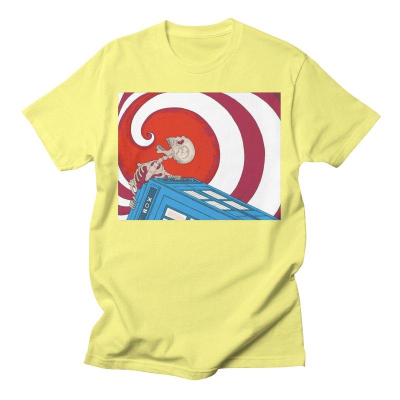 Phone Box Skeleton Men's T-Shirt by Nick Lee Art's Artist Shop