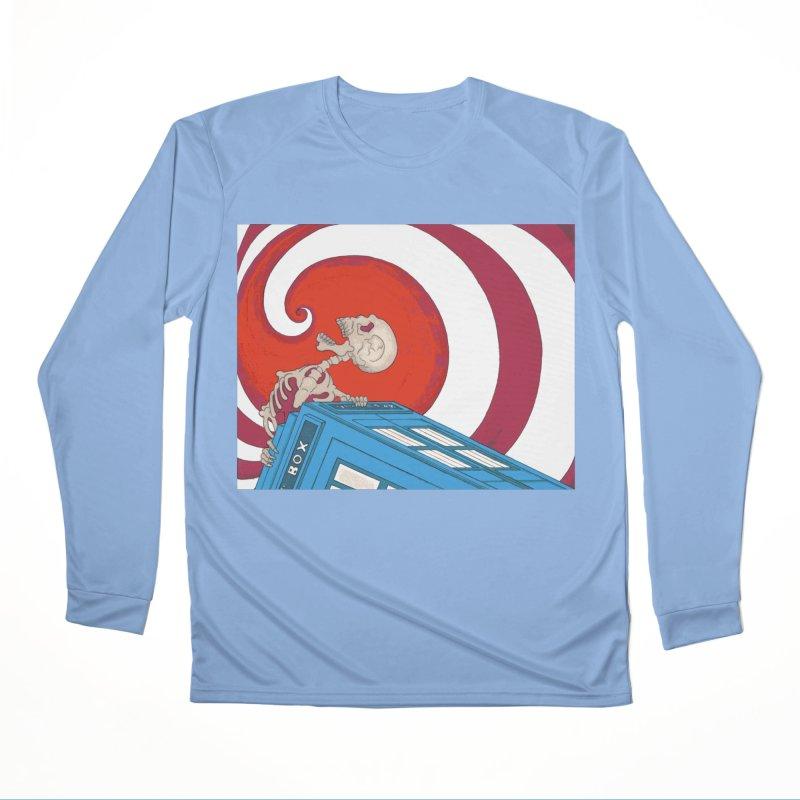 Phone Box Skeleton Men's Longsleeve T-Shirt by Nick Lee Art's Artist Shop