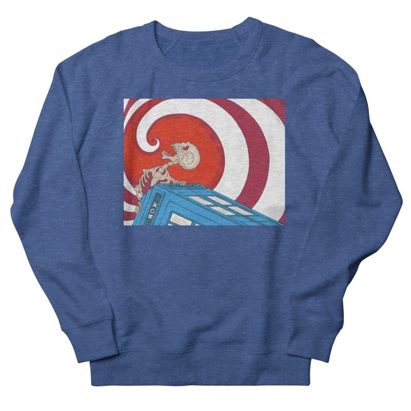 Phone Box Skeleton Men's Sweatshirt by Nick Lee Art's Artist Shop
