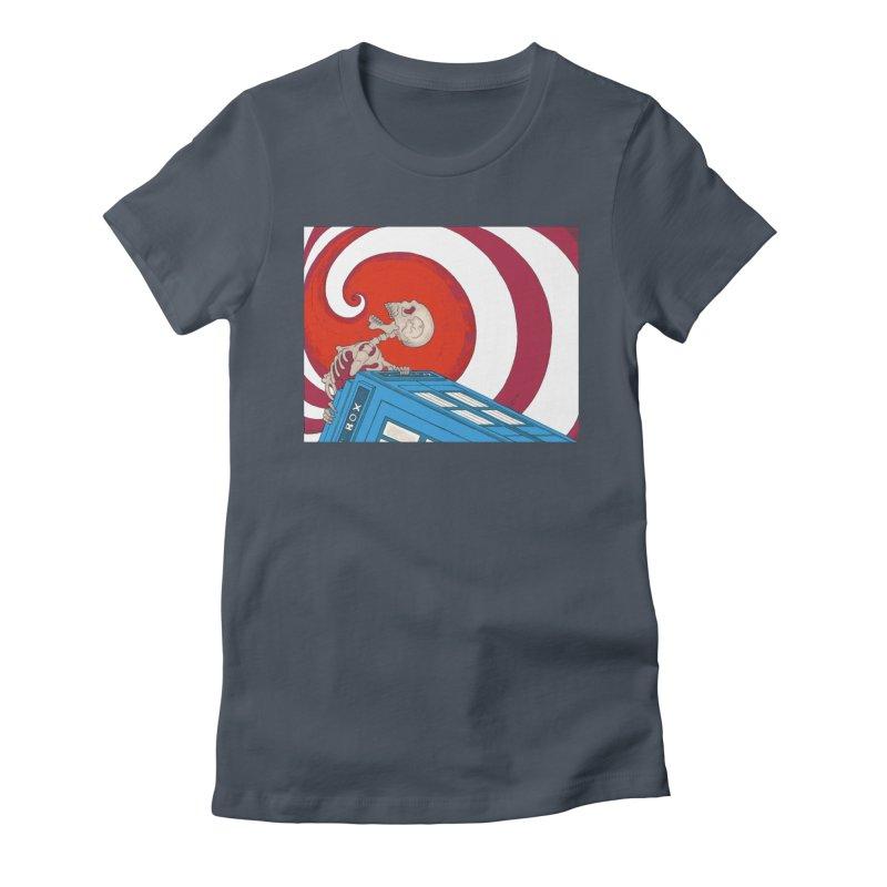 Phone Box Skeleton Women's T-Shirt by Nick Lee Art's Artist Shop